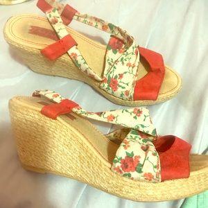 Wedged Zara heels size 7